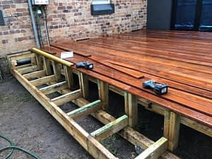 Decking boards being laid...