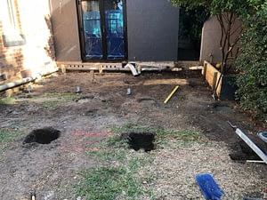 Footings being dug...